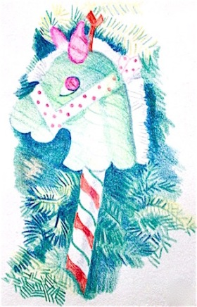 """Christmas Horse""Thank you notes 1993"